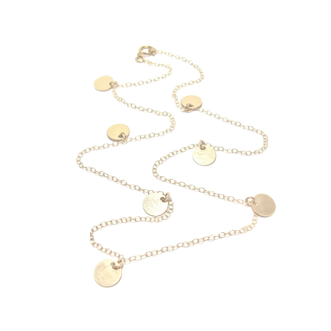 multi discs necklace