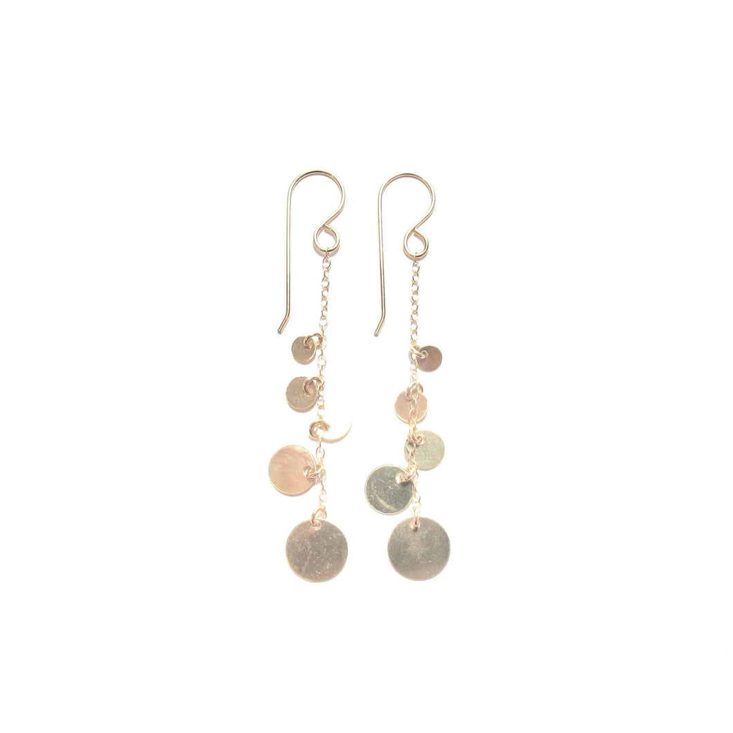 multi disc chain earrings