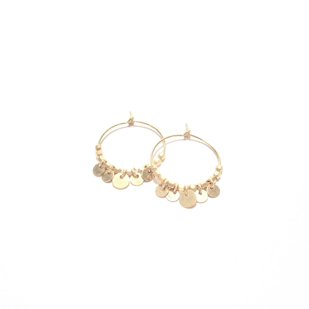 multi disc midi hoop earrings