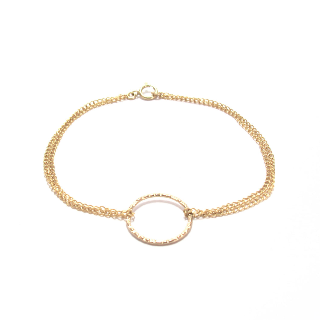 double chain ring bracelet