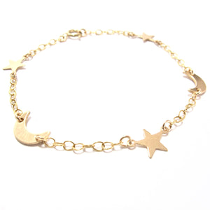 gold moons and stars bracelet
