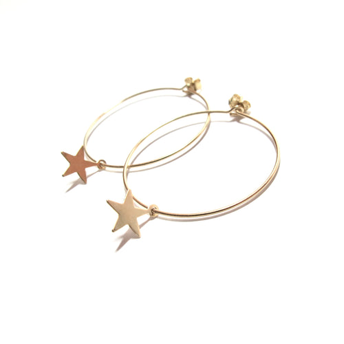 star medium hoop earrings