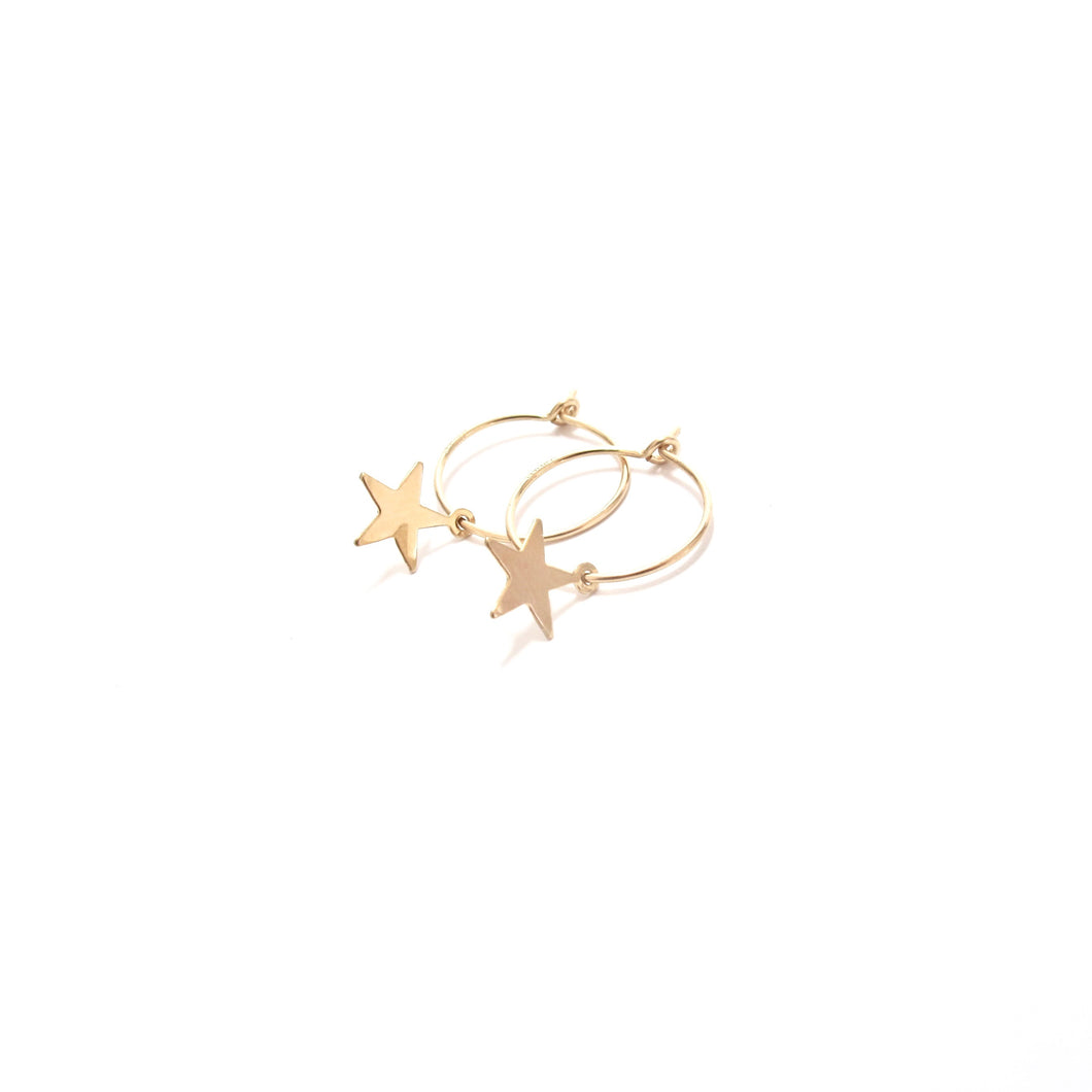 star small hoop earrings