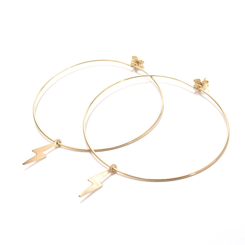 lightning large hoop earrings