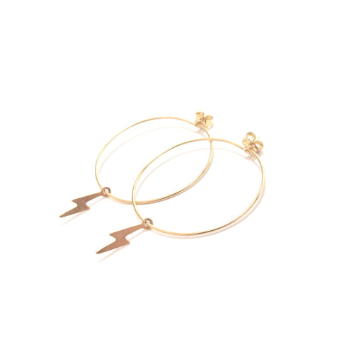 lightning medium hoop earrings