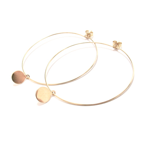 disc large hoop earrings