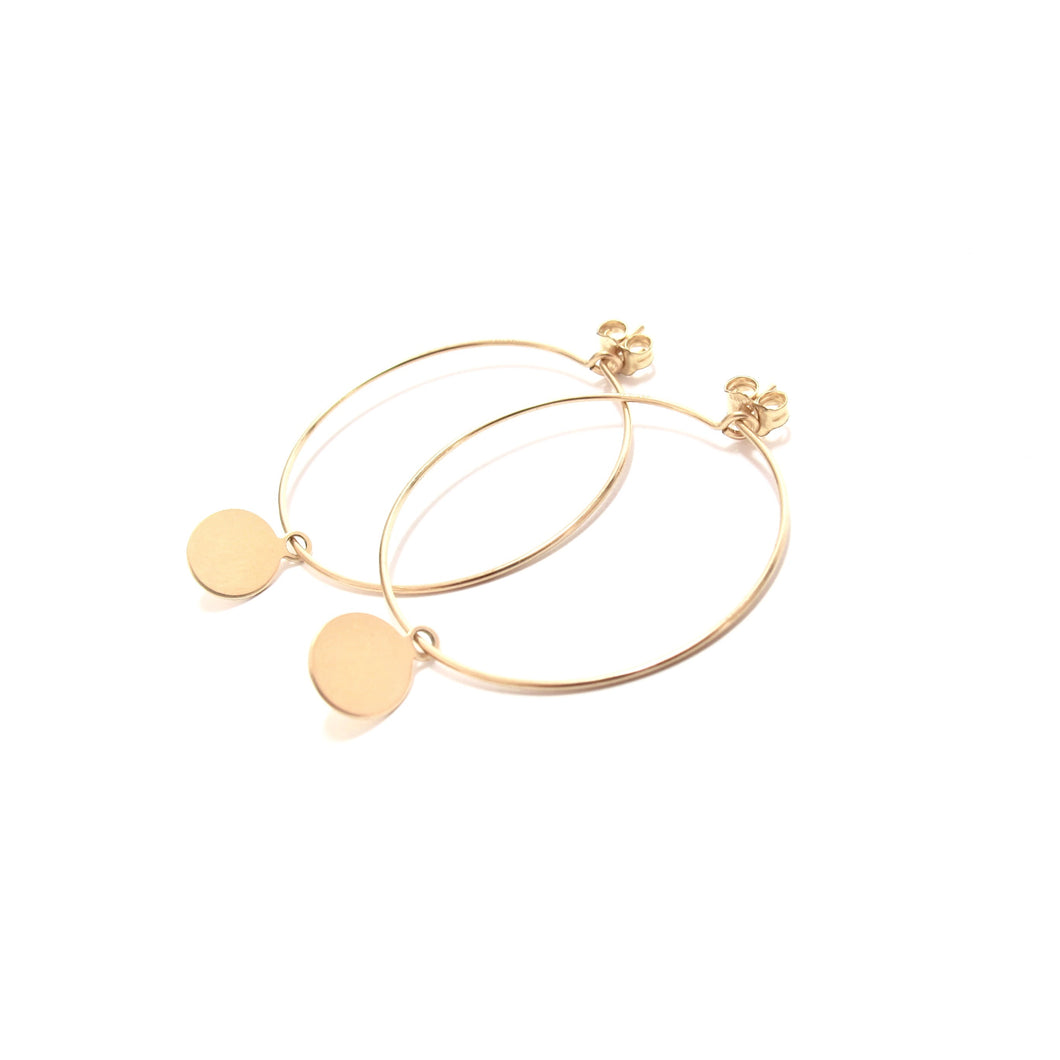 disc medium hoop earrings