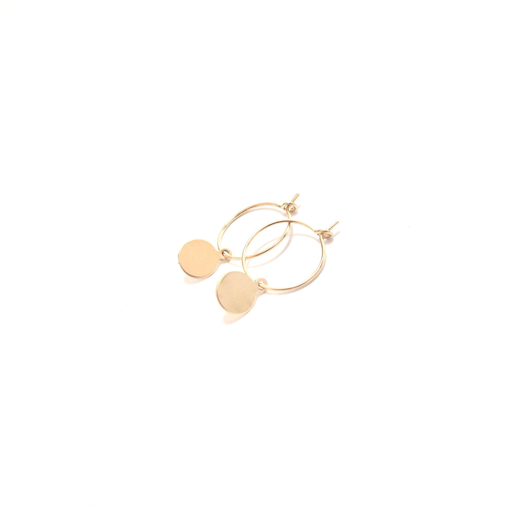 disc small hoop earrings