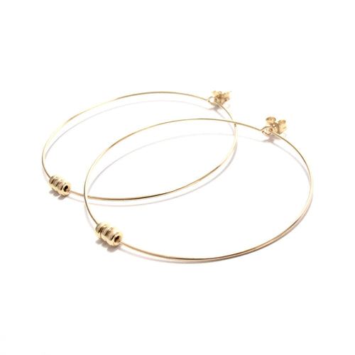 rondelles large hoop earrings