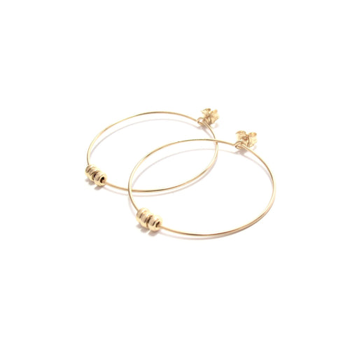 rondelles medium hoop earrings
