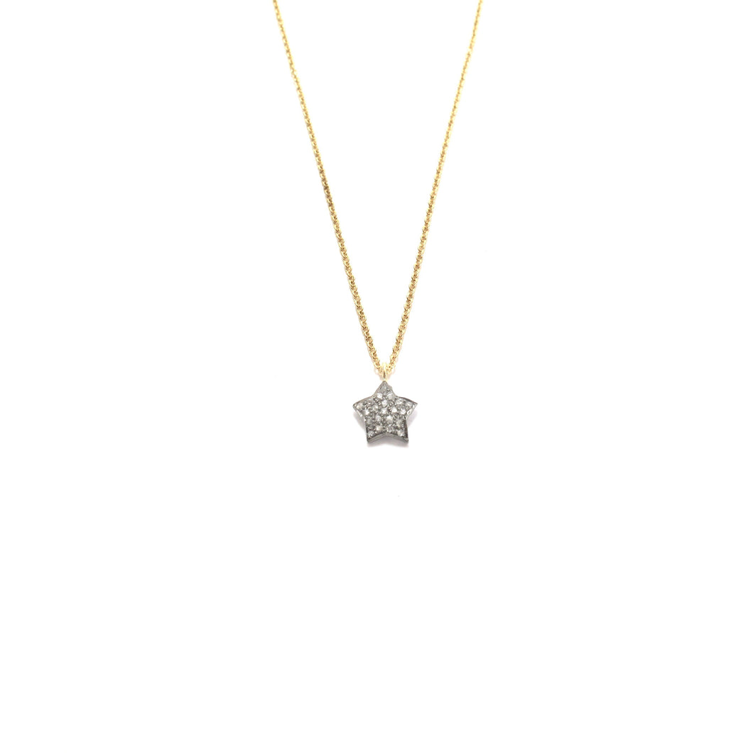 small pave diamond star necklaces