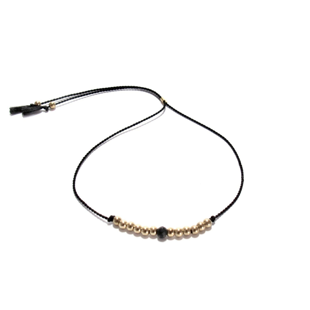 black silk friendship bracelet
