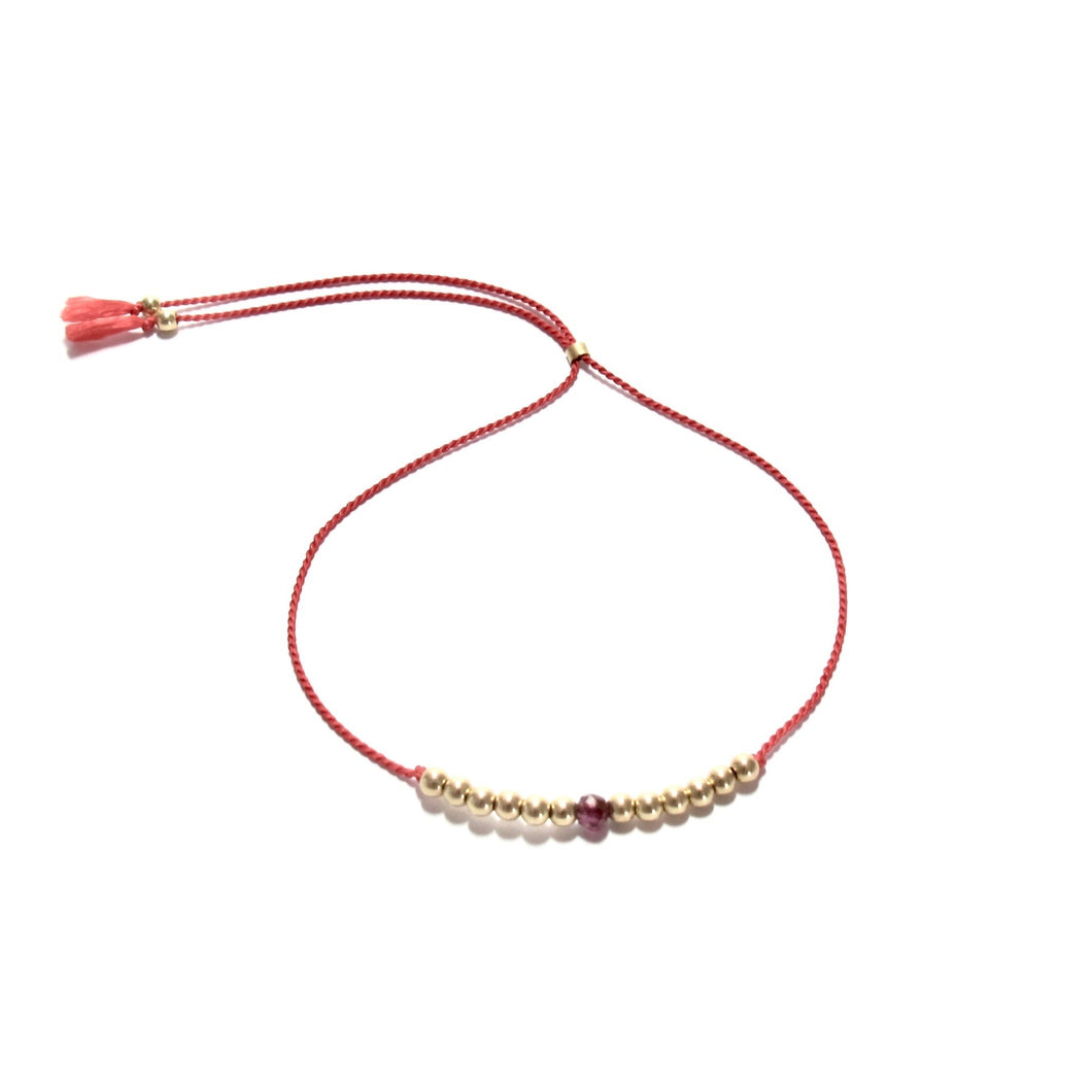 red silk friendship bracelet