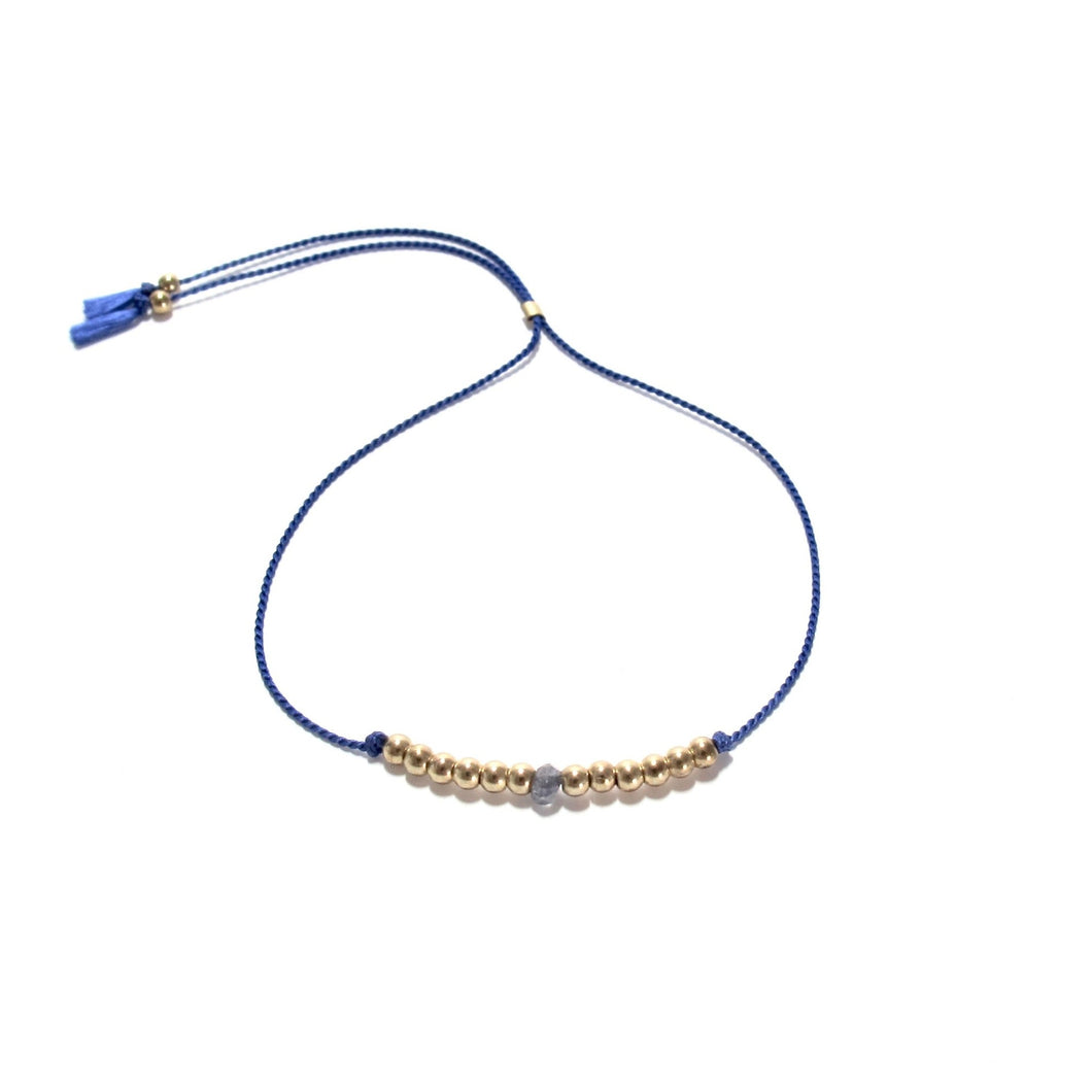navy silk friendship bracelet
