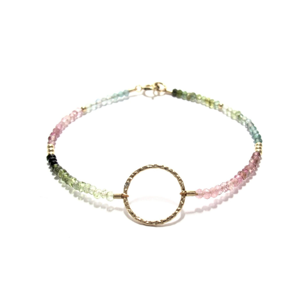 rainbow tourmaline ring bracelet