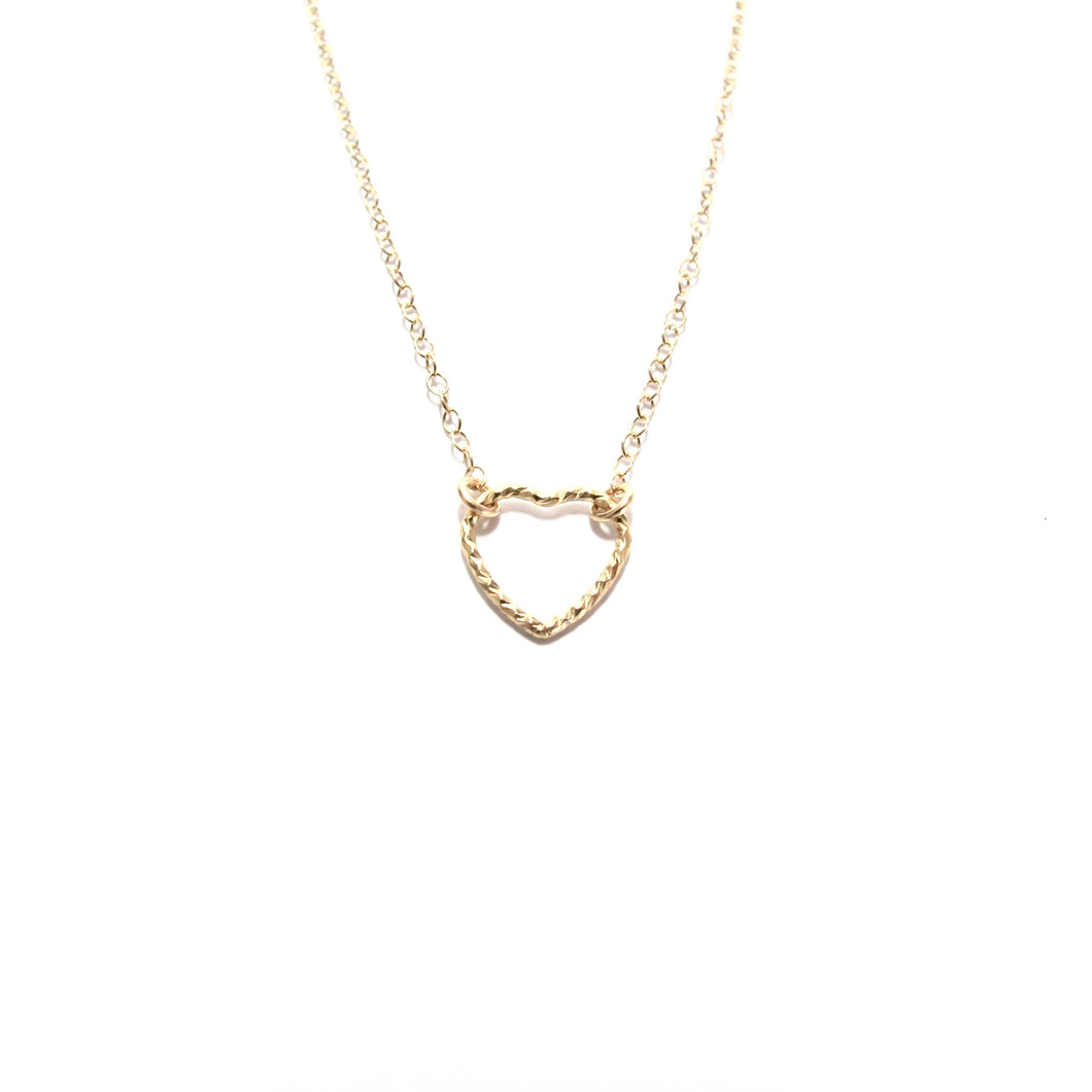 small sparkle heart necklace