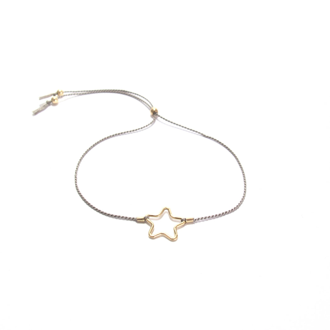 grey silk star friendship bracelet