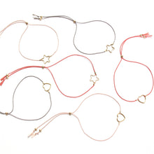 Load image into Gallery viewer, pale pink star friendship bracelet