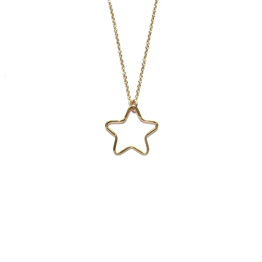large cut out star necklace