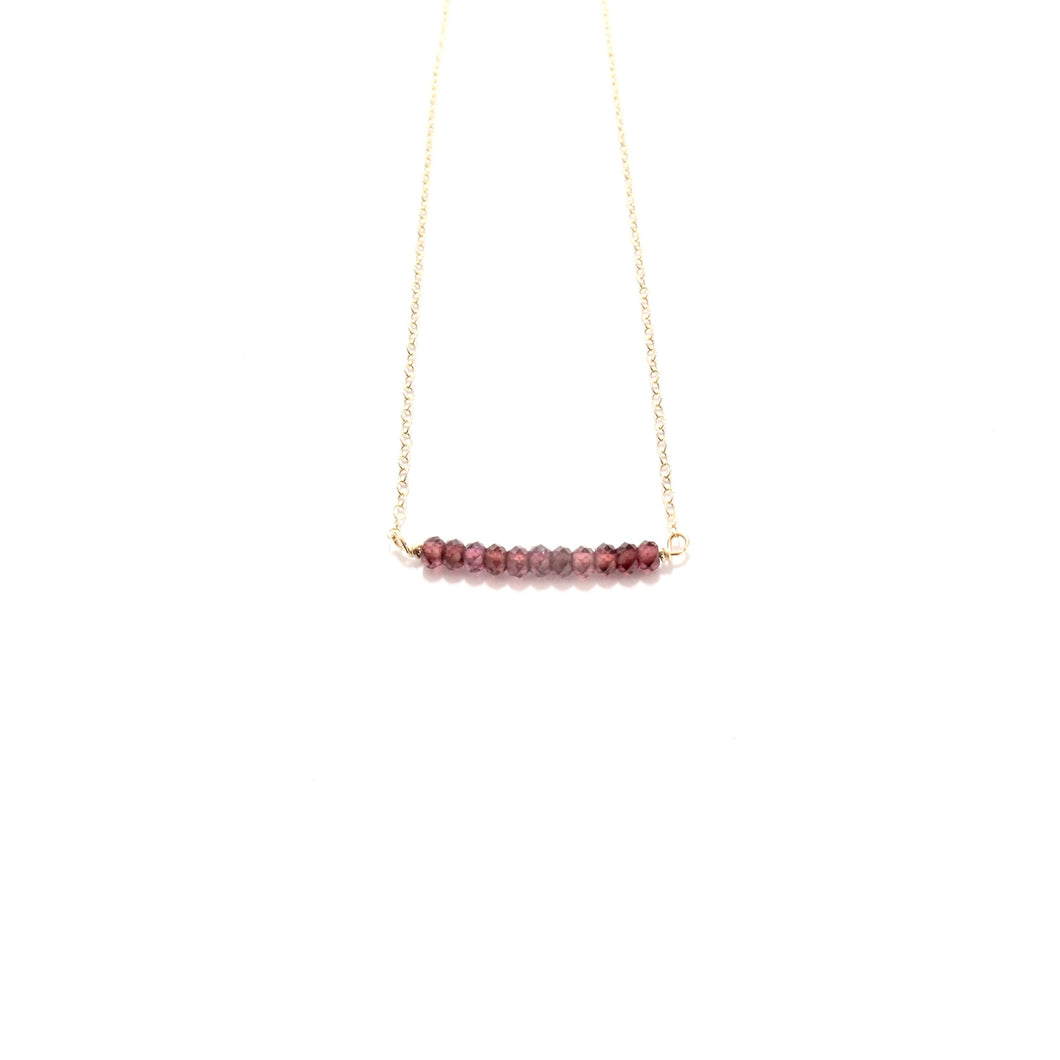 line of garnet necklace