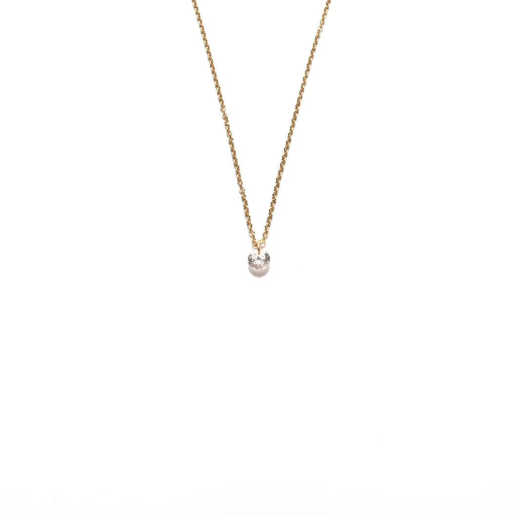 tiny sparkle necklace