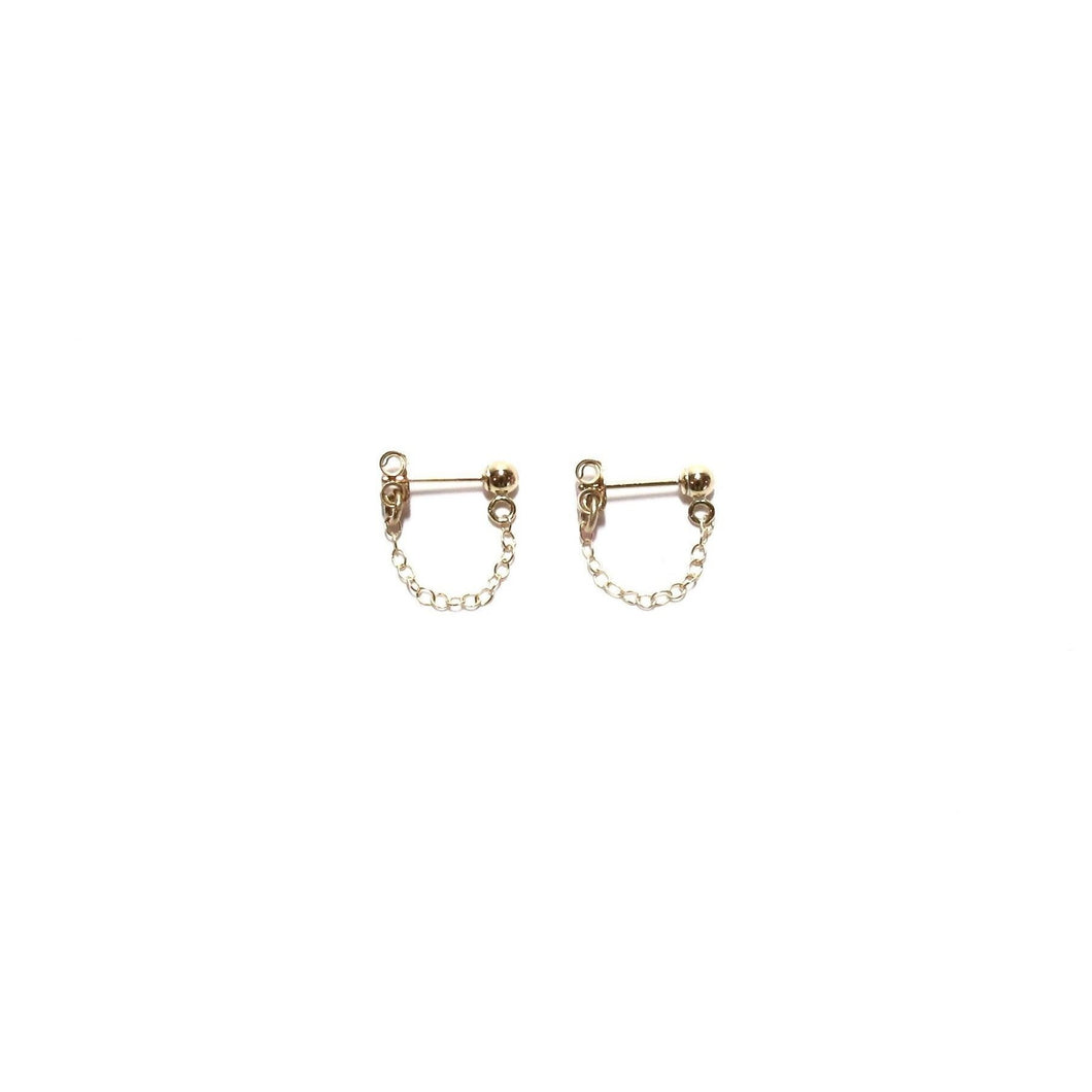 stud chain earrings