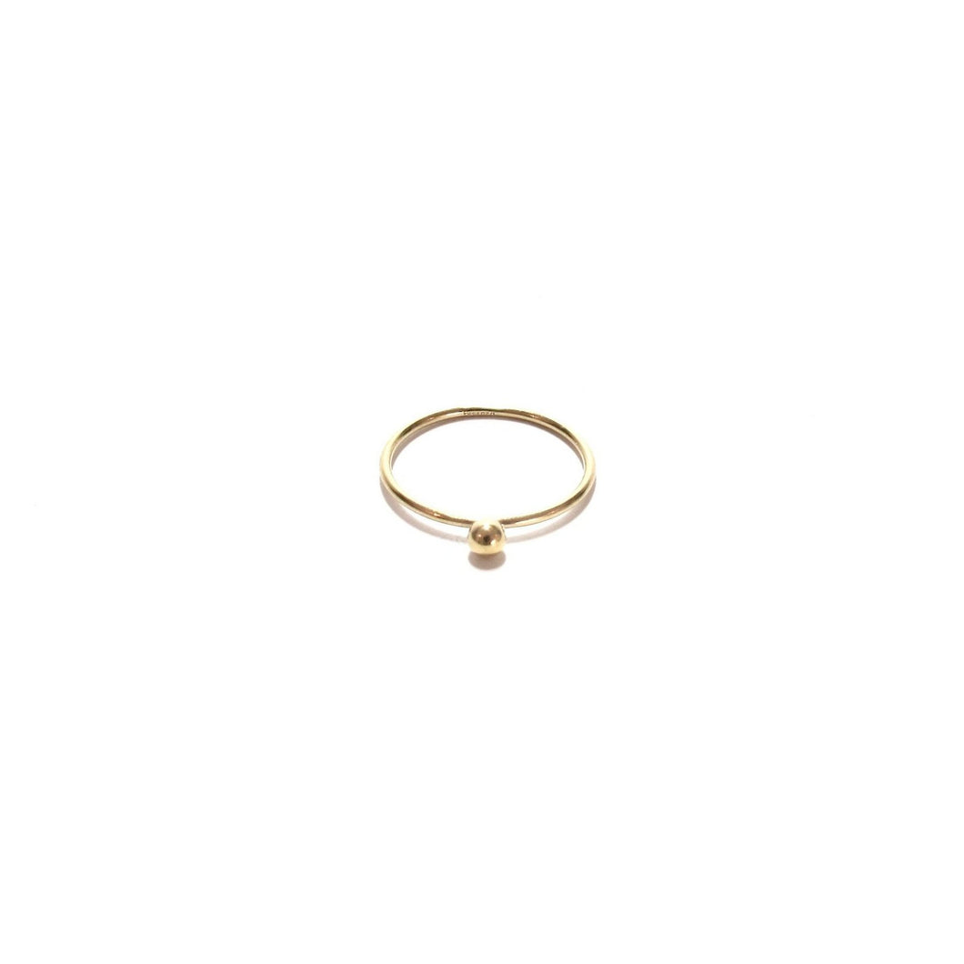 single gold bead ring