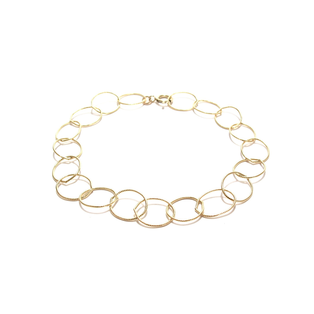 fine chain of rings bracelet