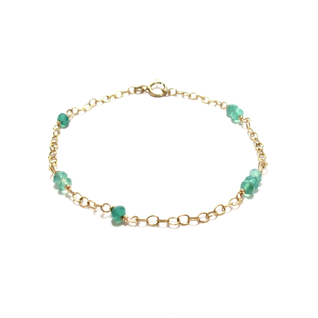 chain and green onyx bracelet