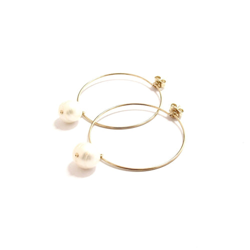 pearl medium hoops