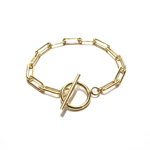 chunky long link chain T-bar bracelet