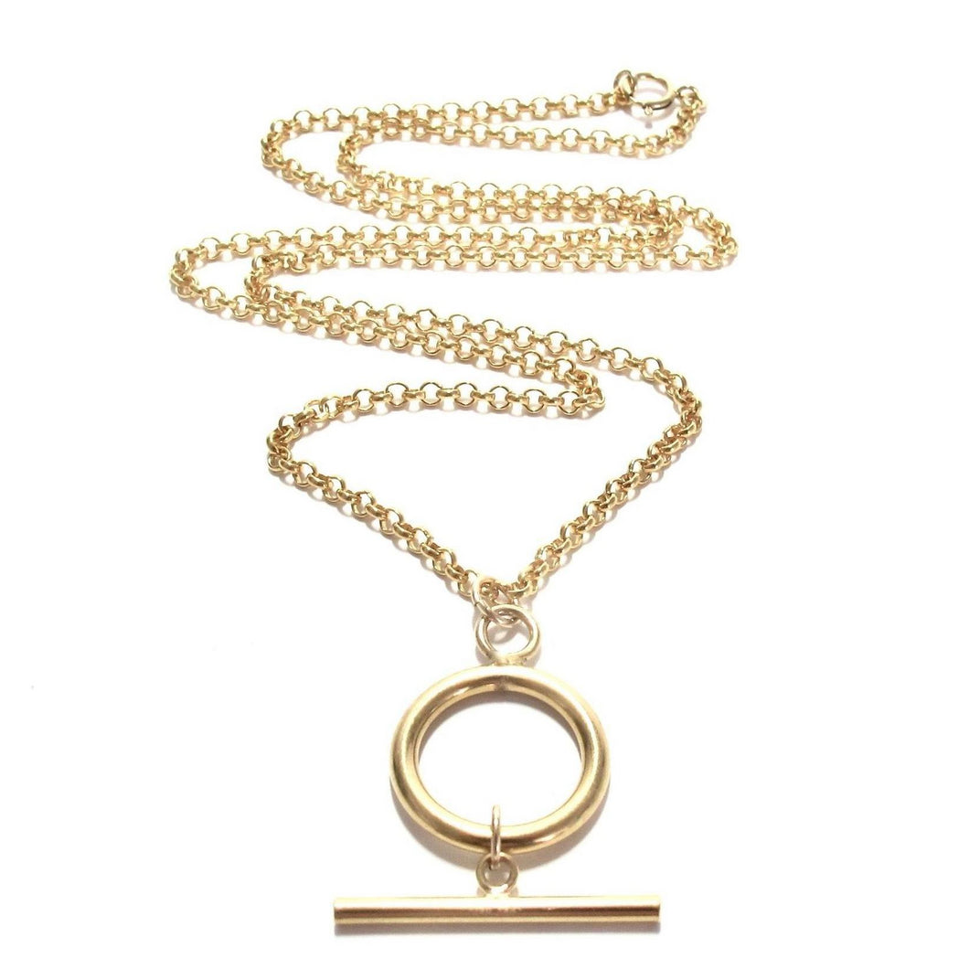 T-bar rolo chain necklace