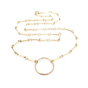bar chain ring necklace