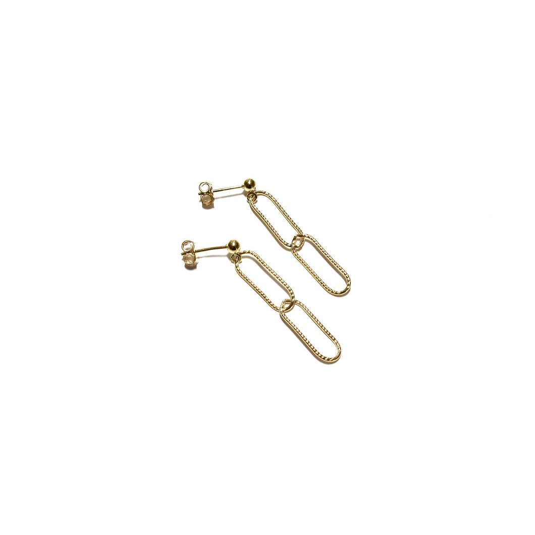 sparkle paperclip earrings