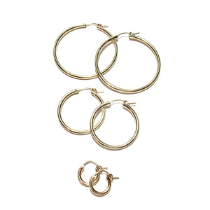 small plain gold hoops
