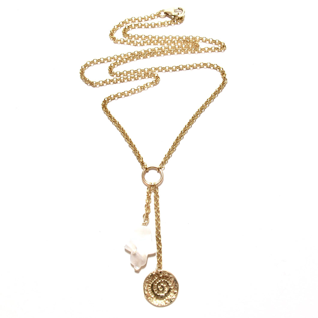 hamsa and coin necklace