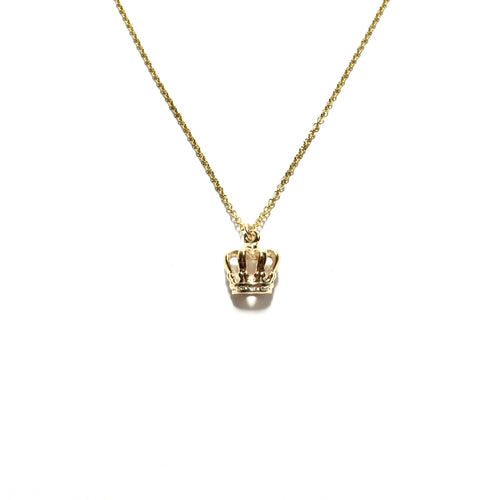 small crown necklace