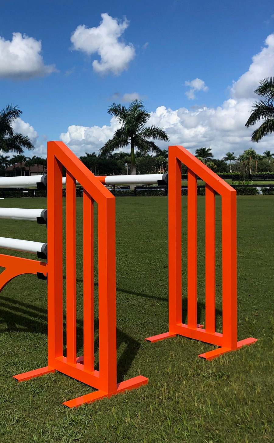 Aluminum Picket Standards from Dalman Jump Co. in red