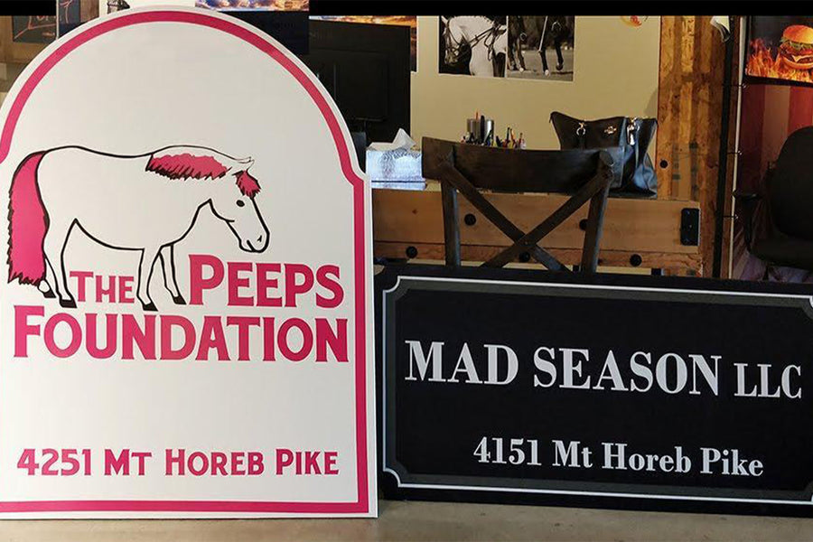 Custom barn entrance signs from Dalman Jump Co.
