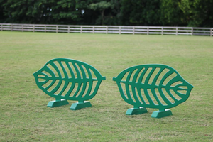 Leaf cutout jump fillers from Dalman Jump Co.