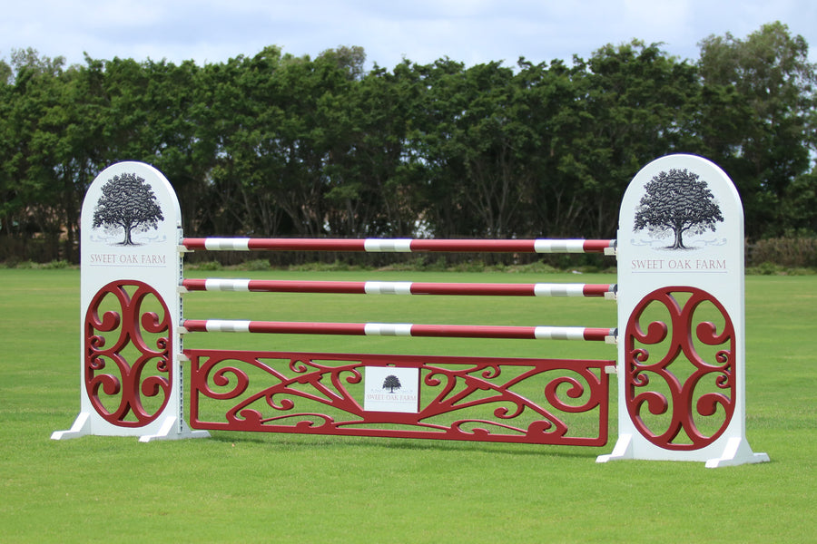 Ornate logo gate from Dalman Jump Co.