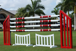 Picket fence jump filler from Dalman Jump Co.