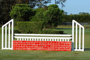 Brick hunter wall from Dalman Jump Co. - red