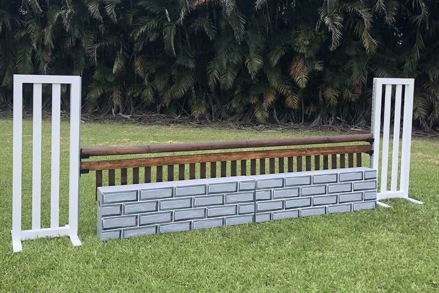 Brick hunter wall from Dalman Jump Co. - grey