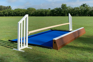 Heavy rubber water tray from Dalman Jump Co.