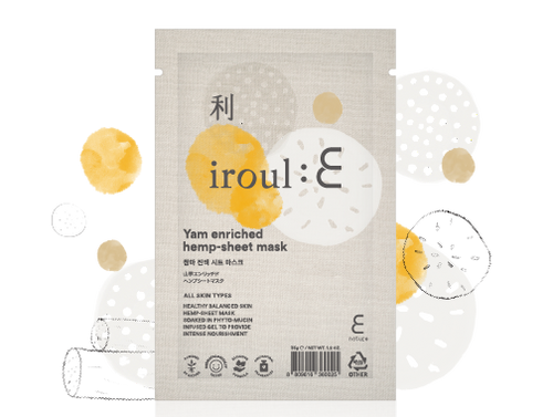 Iroul Yam Enriched Hemp-Sheet Mask
