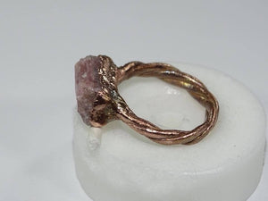Raw Pink Tourmaline Ring