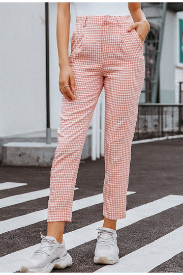 Alora Plaid Trousers