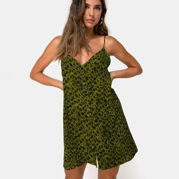 Jasha Leopard Print Dress