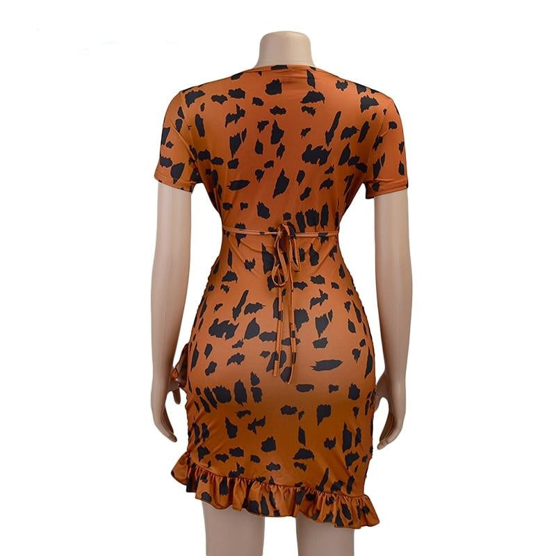 Vivi Leopard Print Dress